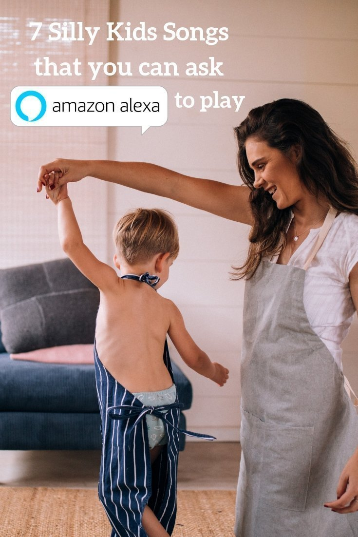 Mom and child dancing to silly kids songs