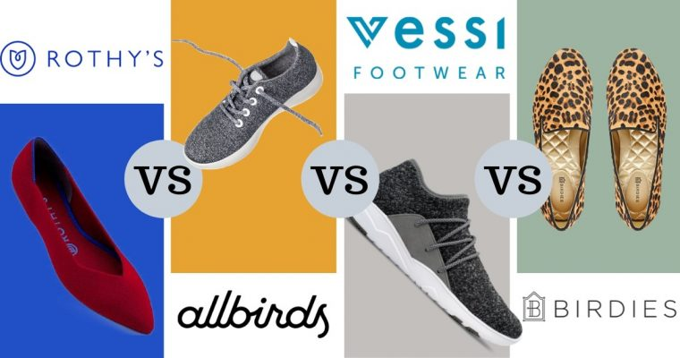 Battle Of The Online Trendy Shoes – Rothy's vs. Allbirds vs. Vessi vs. Birdies
