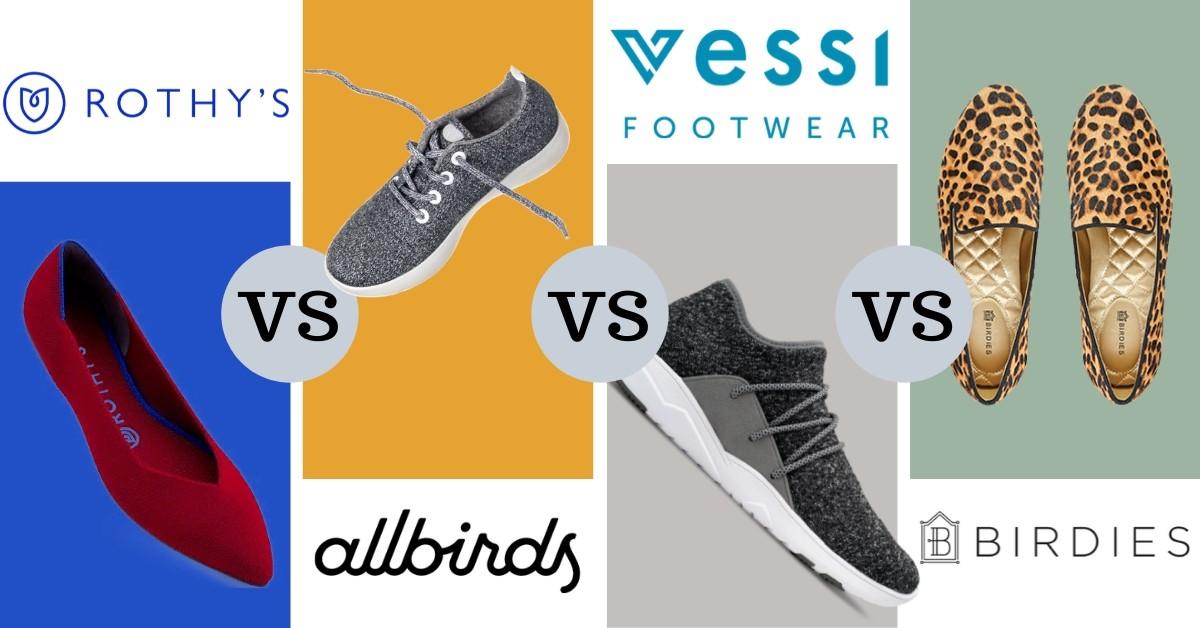 Battle Of The Online Trendy Shoes – Rothy's vs. Allbirds vs. Vessi vs. Birdies