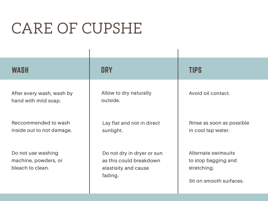Caring for cupshe swimwear