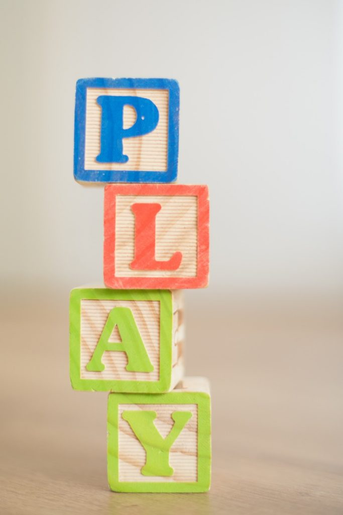 letter blocks for show and tell